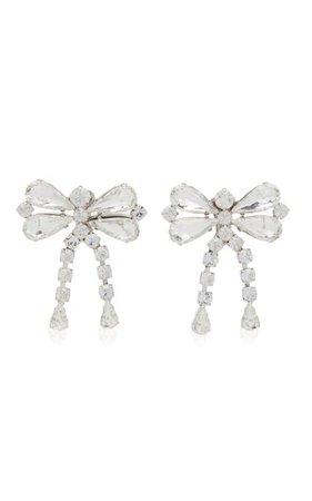 Crystal Bow Statement Stud Earrings By Alessandra Rich | Moda Operandi