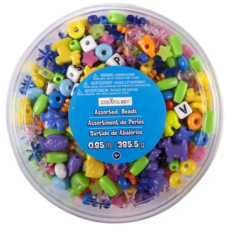 Creatology™ Assorted Beads Tub, Brights