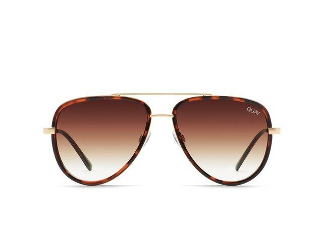 ALL IN MINI Aviator Sunglasses for Women | Quay Australia