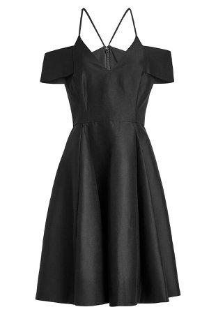 Cold-Shoulder Cotton Dress with Silk Gr. US 4