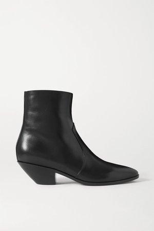 Black West leather ankle boots | SAINT LAURENT | NET-A-PORTER