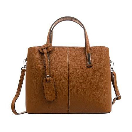 bolso marrón casual