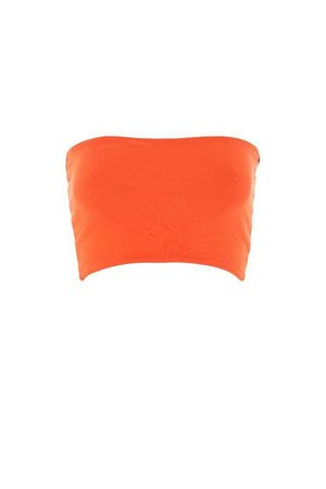 orange bandeau top