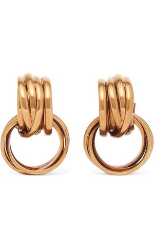 Balenciaga | Burnished gold-tone earrings | NET-A-PORTER.COM