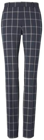 Ryan Slim Straight-Fit Machine-Washable Windowpane Pant