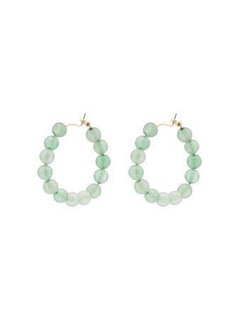 Holly Ryan Quartz Beaded Hoop Earrings Ss20 | Farfetch.com