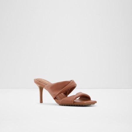 Galendra Cognac Women's Heeled sandals | ALDO US