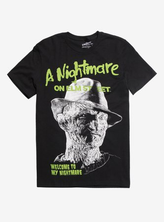*clipped by @luci-her* A Nightmare On Elm Street Freddy Neon T-Shirt