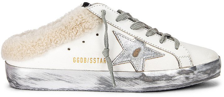 Sabot Superstar Sneaker in White, Silver & Beige | FWRD