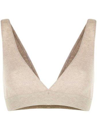 Lisa Yang knitted triangle bralette 402095 - Farfetch