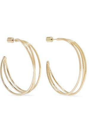 Jennifer Fisher | Triple Thread gold-plated hoop earrings | NET-A-PORTER.COM