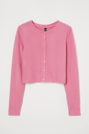 Short Cardigan - Pink - Ladies | H&M US