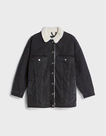 Oversized denim jacket - Outerwear - Woman | Bershka