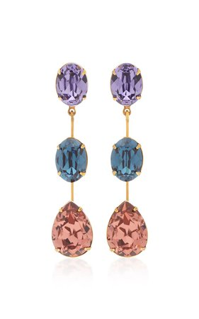 Allanah Gold-Plated and Crystal Earrings by Jennifer Behr | Moda Operandi