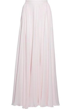 Elie Saab Fluted silk-georgette maxi skirt