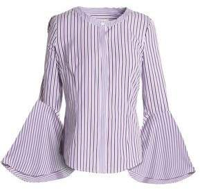 Michelle Striped Cotton-poplin Blouse