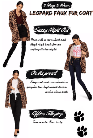 3 Way Thursday: Leopard Faux Fur Jacket