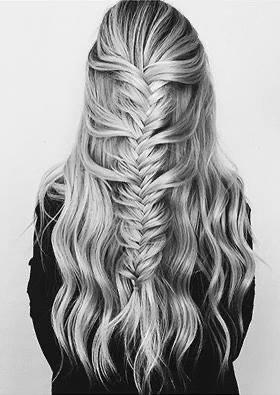 Silver hair braid