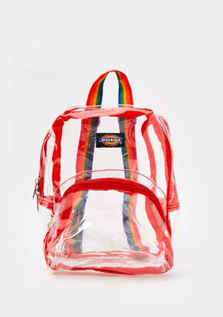 Dickies Clear Rainbow Mini Backpack | Dolls Kill