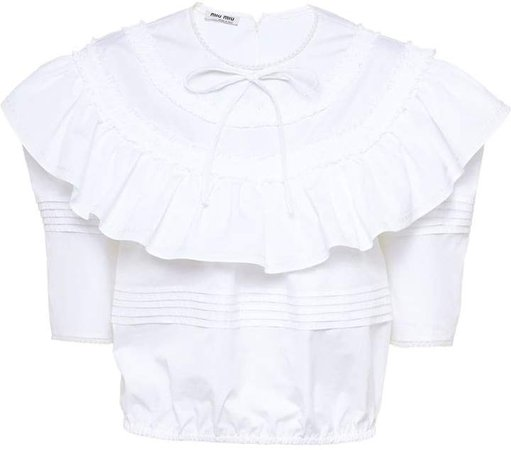 ruffled cropped top