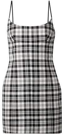 Tartan Wool Mini Dress