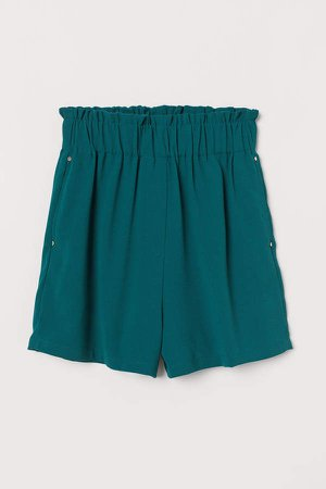 Paper-bag Shorts - Green