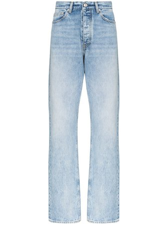 Shop blue Sunflower straight-leg jeans with Express Delivery - Farfetch