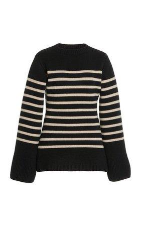Lou Striped Cashmere Sweater By Khaite   Moda Operandi