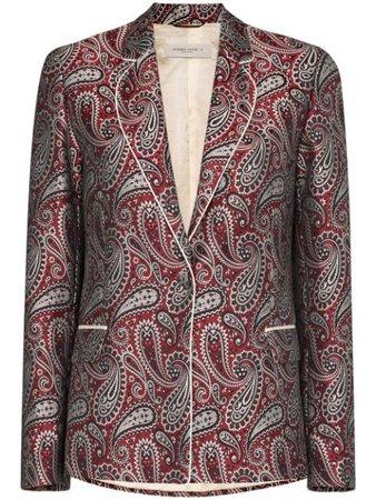 Red Golden Goose Venice Paisley-Print Blazer For Women | Farfetch.com