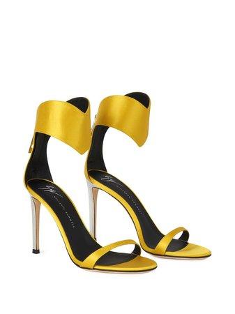 Giuseppe Zanotti Uma anklet satin sandals yellow E100021004 - Farfetch