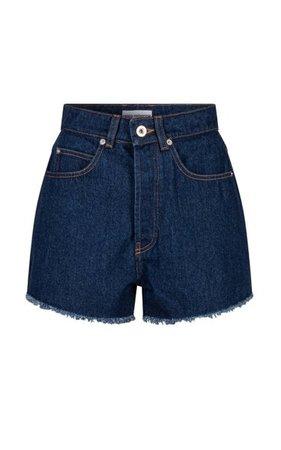 Cotton Denim Shorts By Paco Rabanne   Moda Operandi