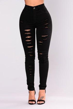 No Promises Distressed Skinny Jeans - Black - Jeans - Fashion Nova
