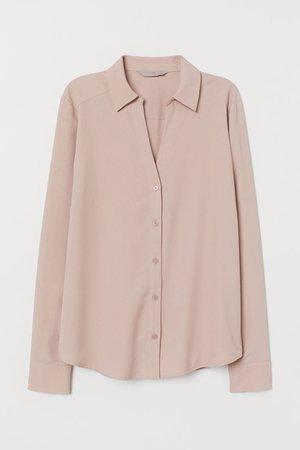 V-neck Blouse - Powder pink - Ladies | H&M US