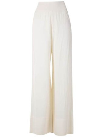 Egrey knitted sheer wide leg trousers - Farfetch