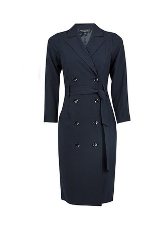 Navy Trench Dress | Dorothy Perkins
