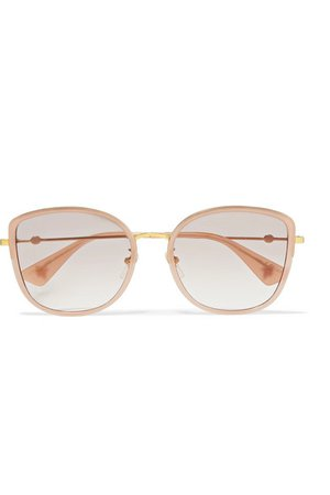 Gucci | Oversized square-frame acetate and gold-tone sunglasses | NET-A-PORTER.COM