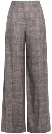Tayport Checked Bamboo Wide-leg Pants