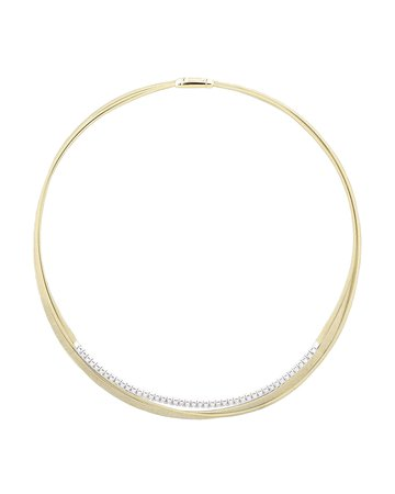 Marco Bicego 18k Yellow Gold Diamond Necklace | Neiman Marcus