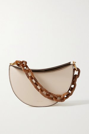 Beige Doris leather tote | Yuzefi | NET-A-PORTER