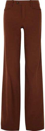 Wool-blend Wide-leg Pants - Copper