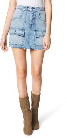 The High Waist Denim Utility Miniskirt