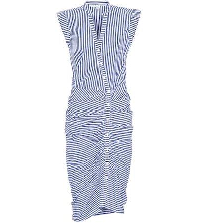 Celeste striped cotton dress