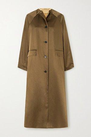 Kassl Editions | Reversible satin and cotton-blend coat | NET-A-PORTER.COM