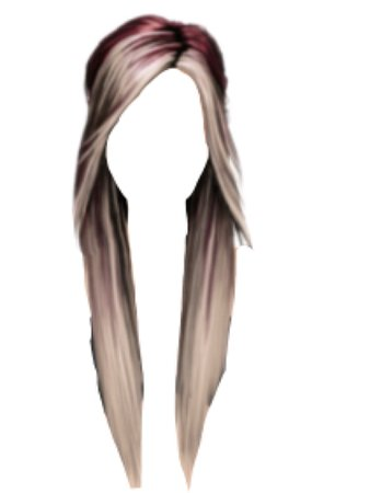 Red / Silver Hair PNG
