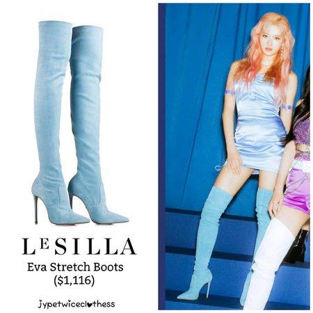 "Twice's Fashion on Instagram: ""SANA FEEL SPECIAL TEASER LE SILLA- Eva Stretch Boots ($1,116) #twicefashion #twicestyle #twice #nayeon #jeongyeon #jihyo #momo #mina #sana…"""