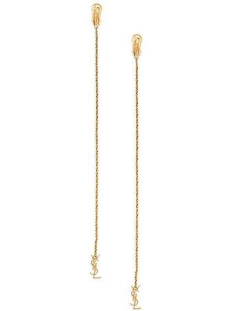 Saint Laurent Opyum monogram earrings $595 - Buy Online AW19 - Quick Shipping, Price
