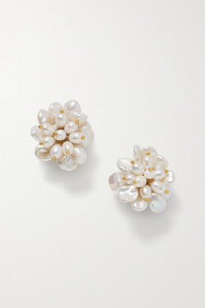 Bibi Marini | Gold-plated pearl earrings | NET-A-PORTER.COM