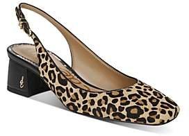Women's Tamra Leopard Print Slingback Pumps