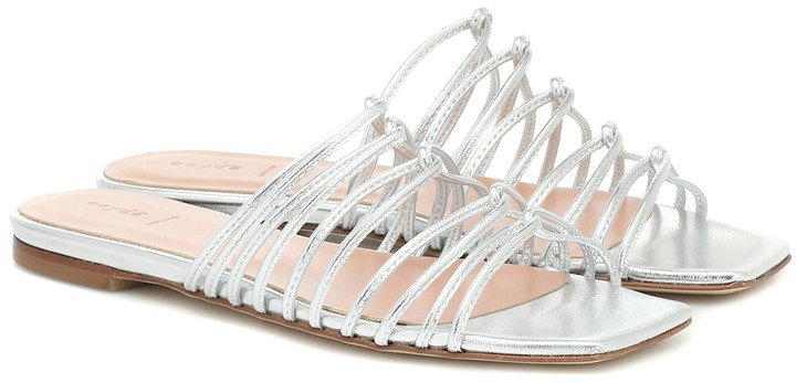 Natasha metallic leather sandals
