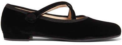 Velvet Ballet Flats - Black